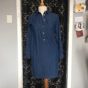 Uniqlo denim shirt dress size Xs